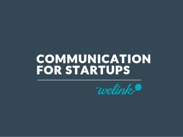 Best Practises / Communication for startups - sept 2014