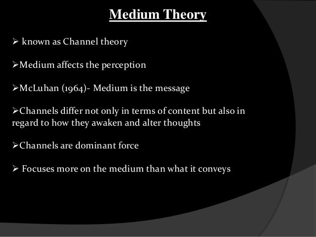 medium theory What is mcluhan's hot and cold theory what are some examples  if the medium is the message, as marshall mcluhan says, then what is the message of the internet.