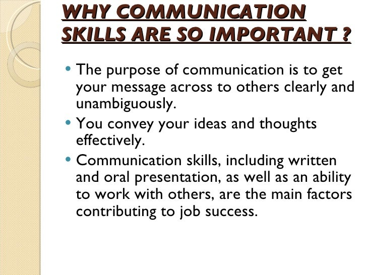 The Role Of Effective Communication Skills
