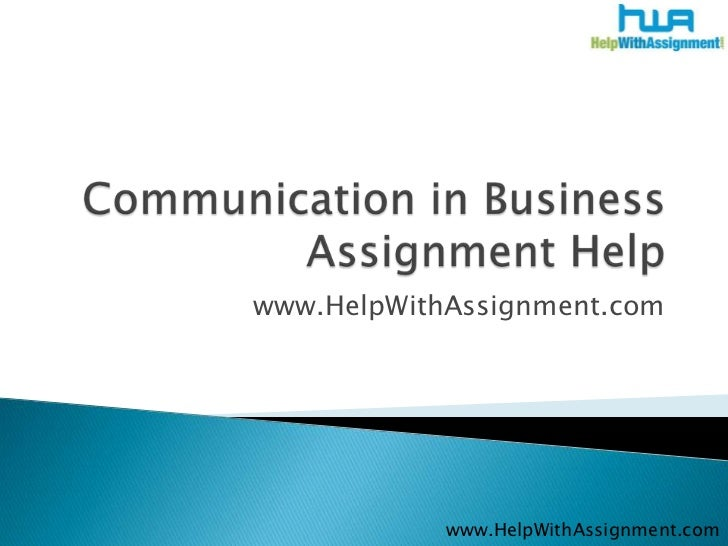 www.HelpWithAssignment.com            www.HelpWithAssignment.com