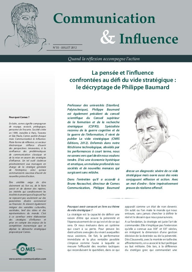 Communication                                       	 	 	 	 & Influence                                       N°35 - JUILL...