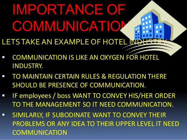 importance of ict to hotel industry Hotel industry top study  view study reports  statista is a great source of knowledge, and pretty helpful to manage the daily work  survey on the most important trends in the ict industry .
