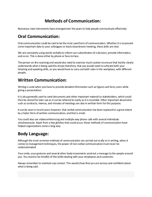 communication in organization assignment of o b 2