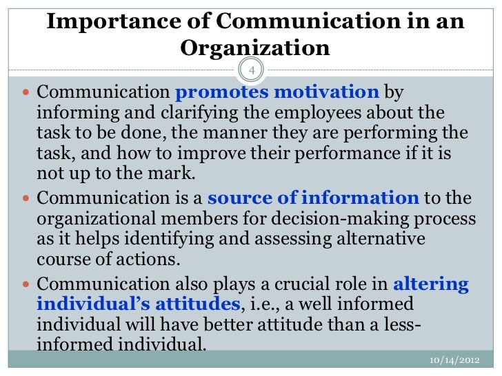 What Is the Role of Communication in Business Organizations?
