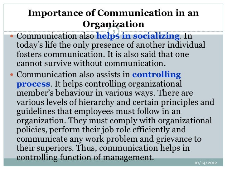 role of communication in public administration