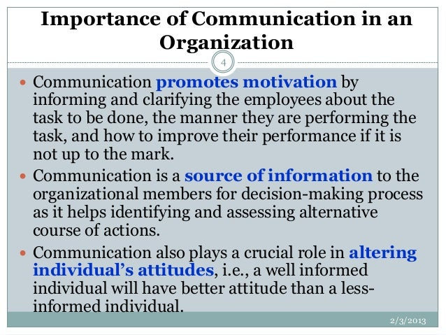 Importance of communication in business administration