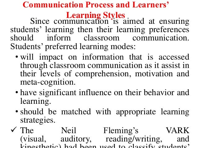 Communication in the classroom