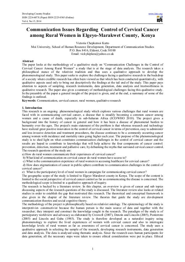 Developing Country Studies www.iiste.org ISSN 2224-607X (Paper) ISSN 2225-0565 (Online) Vol.4, No.15, 2014 1 Communication...