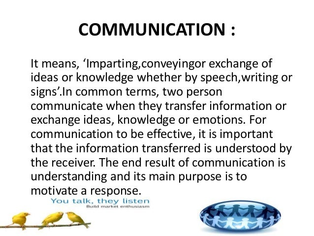 communication is a process of exchange data information ideas thoughts and emotions This article reviews the research-based knowledge regarding employee/organizational communications, a complex process information exchange thinking, acting.