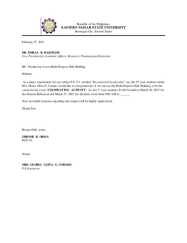 Communication letter for a venue communication letter for a venue republic of the philippines eastern samar state university borongan city eastern samar february 27 altavistaventures