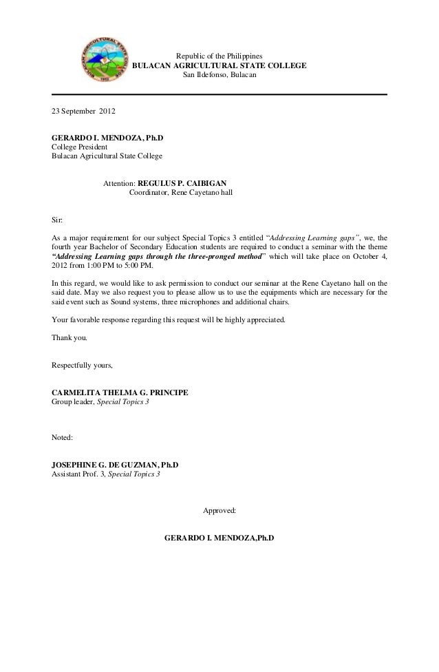 Communication letter for guest speaker 3 republic of the philippines bulacan agricultural stopboris Choice Image