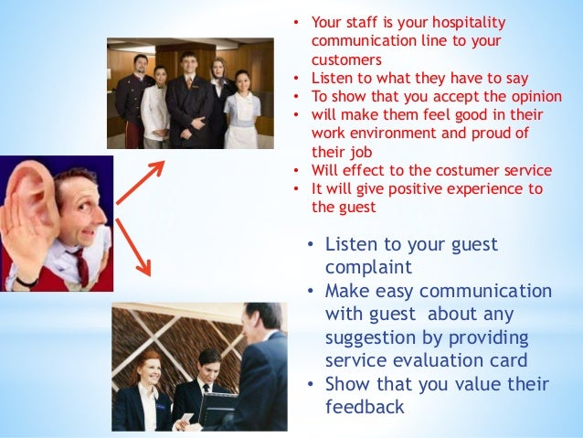 communication in hospitality industry