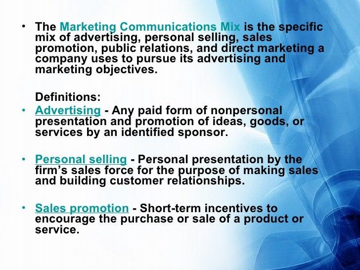 communication mix definition