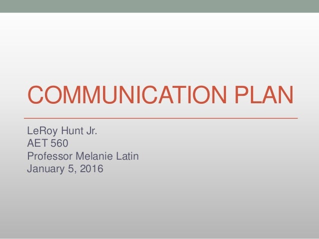 how to prepare a communication plan