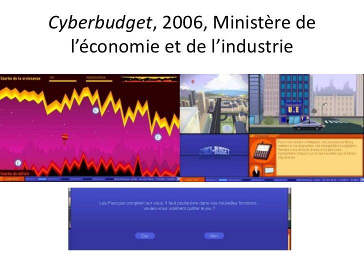 Cyberbudget, 2006, Ministère de l'économie et de l'industrie<br />