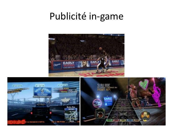Publicité in-game<br />