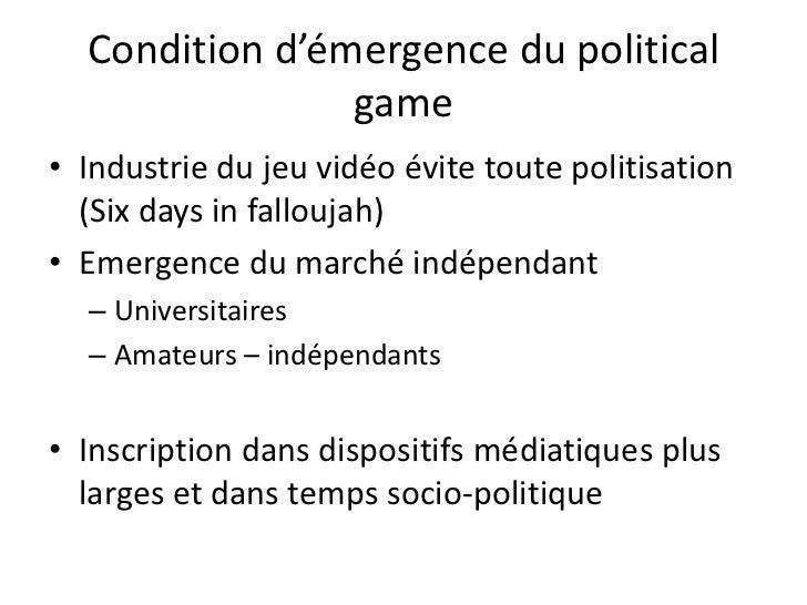 Jeux sur la politique et politisation des jeux vidéo<br />Politisation comme processus de requalification d'activités et e...