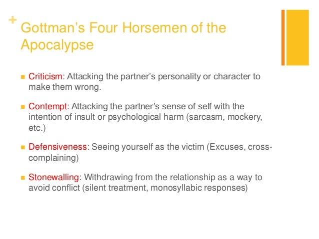 Horsemen The Apocalypse Gottman Four Of