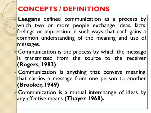 a description of communication as the mutual exchange of understanding originating with the receiver Effective communications: raising the profile of your archive service  • positive influence on decision-making by presenting a strong point of view and developing mutual understanding  strong communication can bring understanding of archive collections and their potential for involvement.