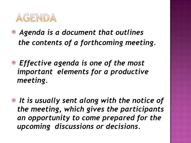 What Is An Agenda  KakTakTk