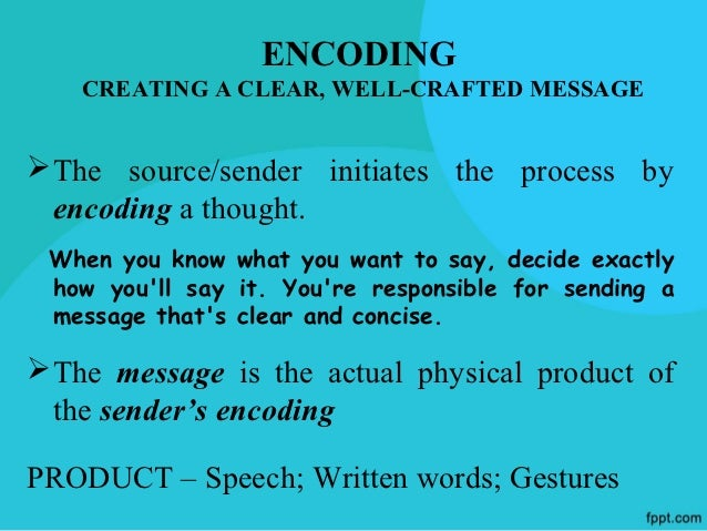 CHOOSING THE RIGHT CHANNELAlong with encoding the message, it is important to  choose the best communication channel to se...
