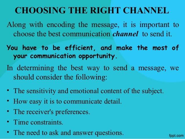 DECODINGRECEIVING AND INTERPRETING A MESSAGE