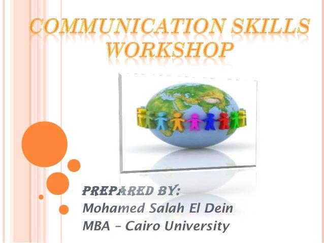 PrePared By:Mohamed Salah El DeinMBA – Cairo University