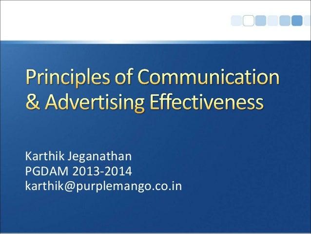 Karthik Jeganathan PGDAM 2013-2014 karthik@purplemango.co.in