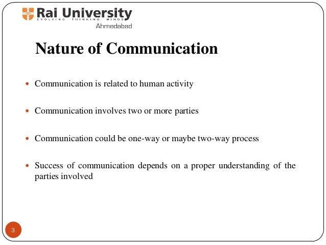 Nature of Marketing Communication