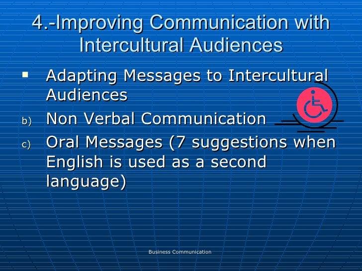 4.-Improving Communication with Intercultural Audiences <ul><li>Adapting Messages to Intercultural Audiences </li></ul><ul...