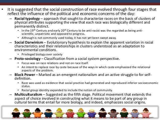 • Identity is socially constructed, not limited to an individual or personal frame of  reference. Is enacted through commu...