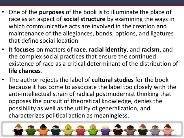 III. THEORETICAL PERSPECTIVES OF COMMUNICATION AND RACE• There are distinctions to be made between the various approaches ...
