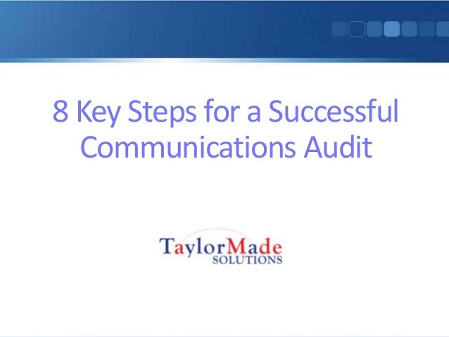 8 Key Steps for a Successful Communications Audit