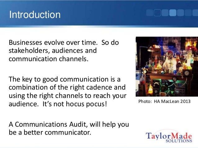 communications audit Even if you've never done one before, never fear: you can complete your  communications audit in five easy steps.