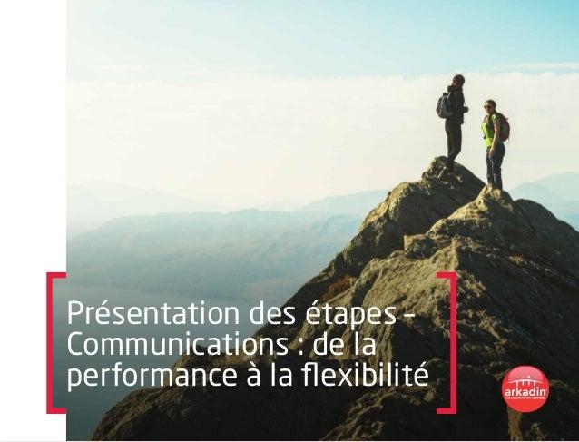 Présentation des étapes – Communications : de la performance à la flexibilité