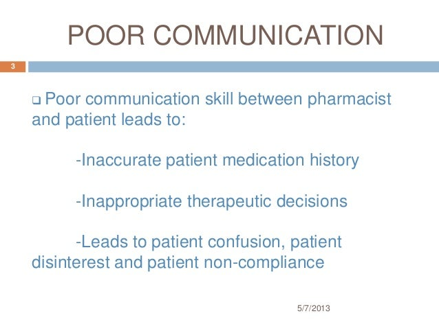 Poor Communication Examples In Healthcare