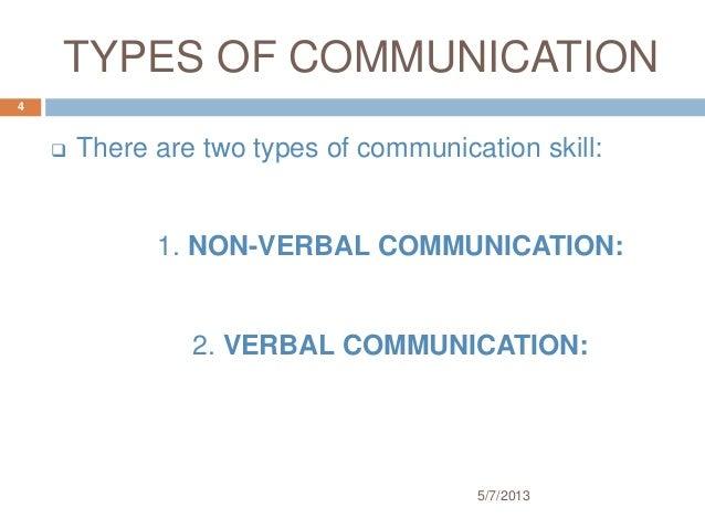 type of communication skills