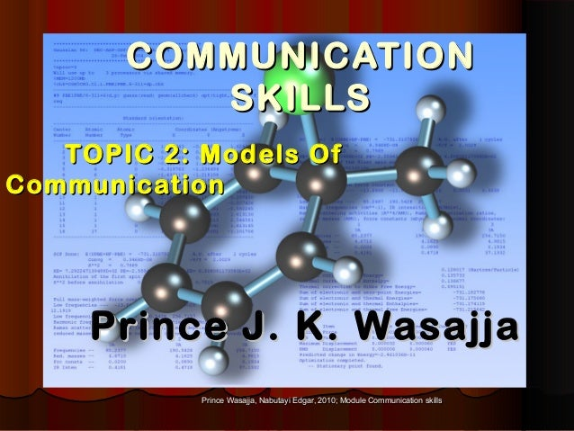 Prince Wasajja, Nabutayi Edgar, 2010; Module Communication skillsPrince Wasajja, Nabutayi Edgar, 2010; Module Communicatio...