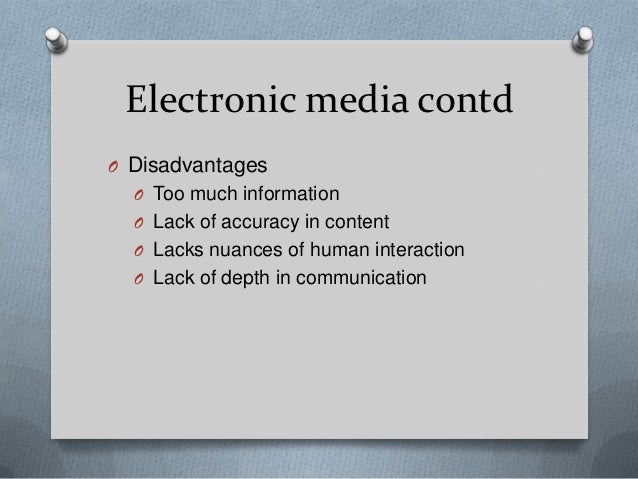 impact of electronic media advertising Is digital really greener so there will likely be a number of impacts the ideal situation is that we use both electronic and print media in a way that.