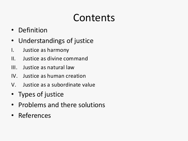 the definition of justice
