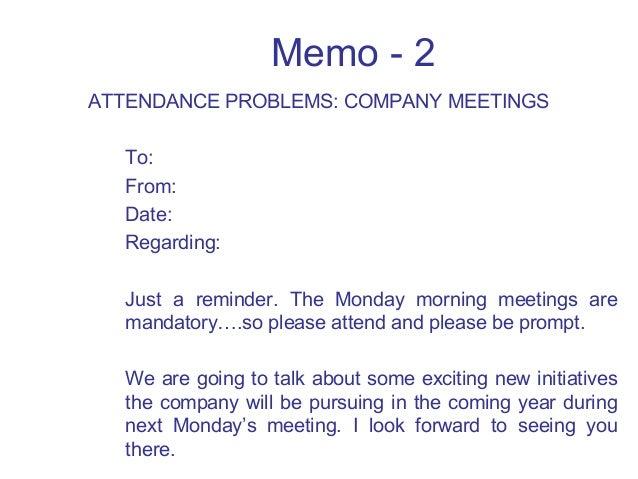 memo for staff meeting sample business communication skills