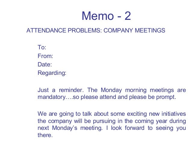 Meeting Memo  Resume Template Sample