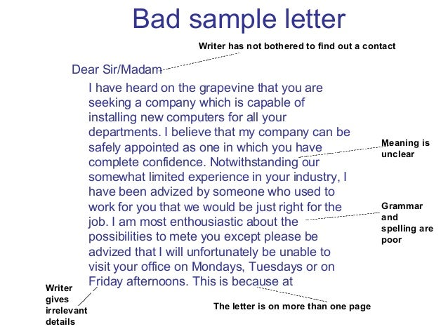 bad business letter examples seatle davidjoel co