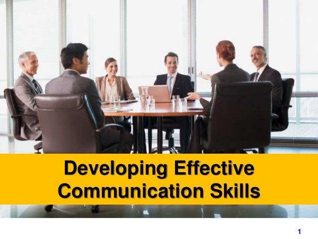 1www.exploreHR.org Developing Effective Communication Skills