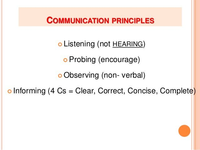 3- OBSERVING:  Nonverbal communication through: - Facial expressions, - Voice tone - Body language.