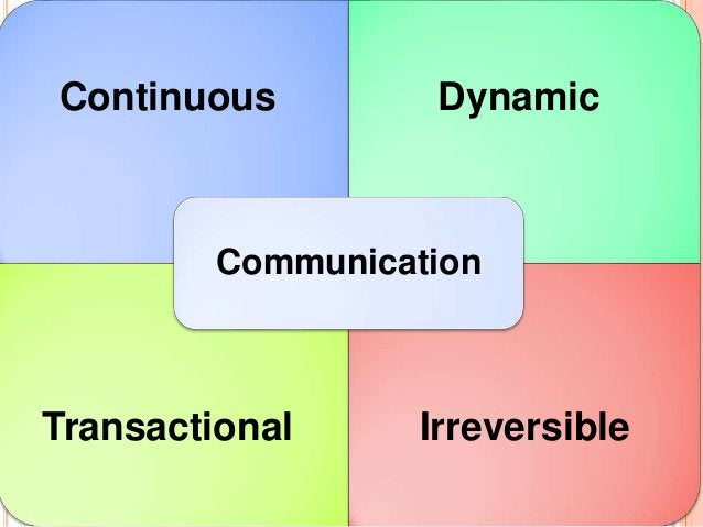 Continuous Dynamic Transactional Irreversible Communication