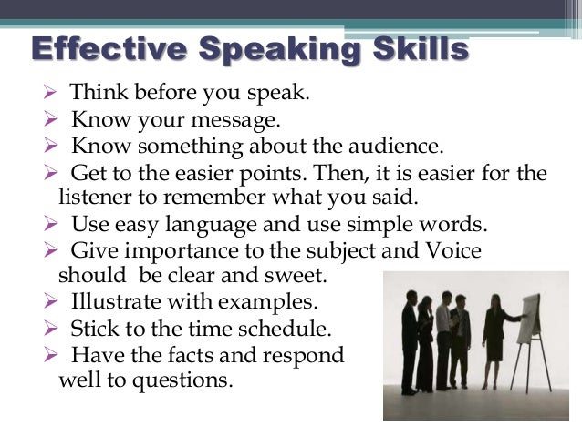 Communication skills listening and speaking skills