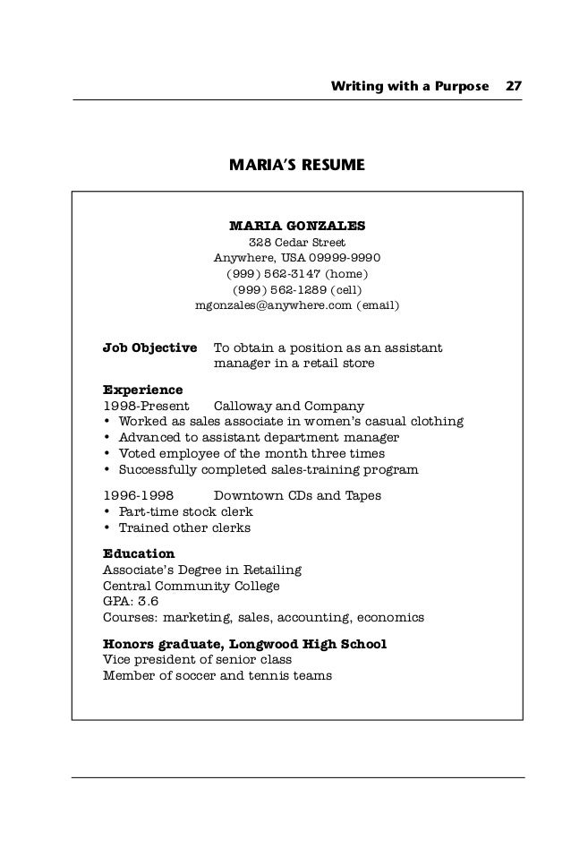 resume examples communication skills