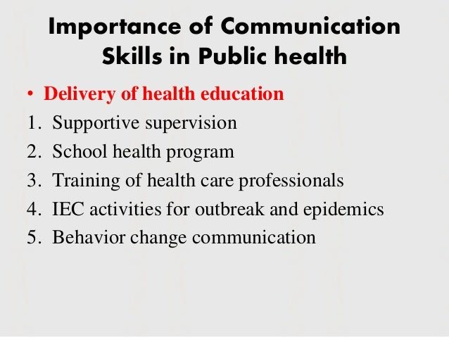 importance of communication in health care professionals