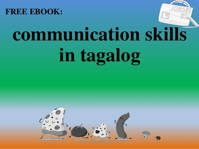 Communication Skills In Tagalog Pdf Free Download
